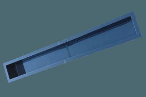 Wasserbecken 400x45x40cm + 9cm Rand schwarz