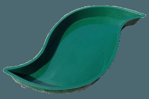 Teichbecken Modern flach 3000 Liter in Signalgrau oder Türkisblau
