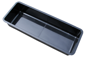 Wasserbecken  450 x 100 x 40cm  + 9cm Rand. schwarz