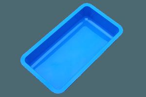 Wasserbecken  450 x 100 x 40cm  + 9cm Rand. Türkisblau
