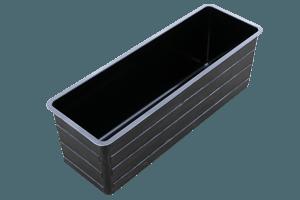 Wasserbecken 400x125x140cm + 9cm Rand Signalgrau