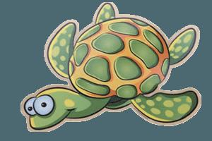 Aufkleber Schildkröte