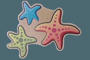Aufkleber Seesterne